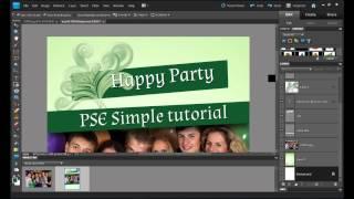 Meghívó készítése webre Photoshop Elements