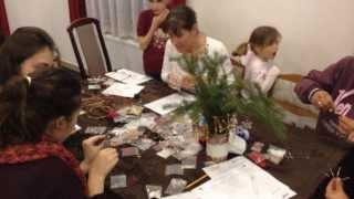 Karácsonyi dísz készítés Zselickisfaludon