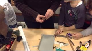 Kézműves foglalkozás - bőrözés - bőr ékszerek készítése
